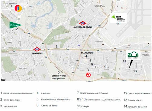 Mapa Residencial Tres Estaciones